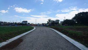 滑川町から分譲地への開発道路②