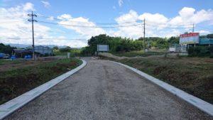 滑川町から分譲地への開発道路
